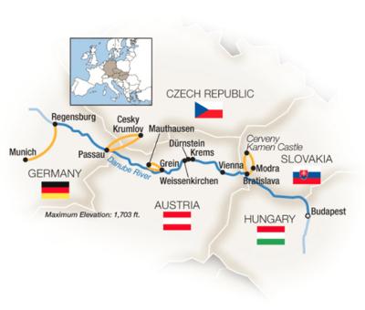 Tauck Danube Budapest to Bavaria